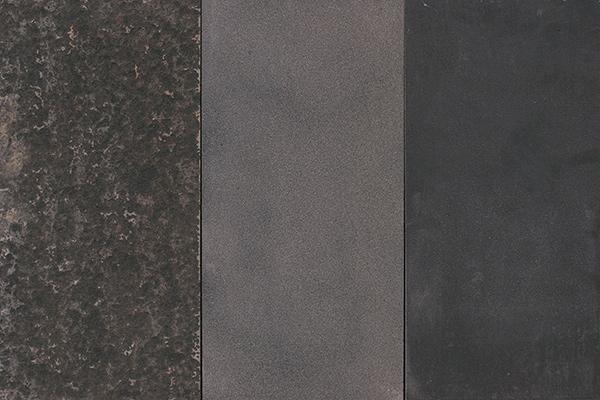 Basalto Nero bocciardato sabbiato fiammato