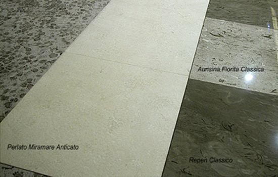 Pavimentazione in marmo mista