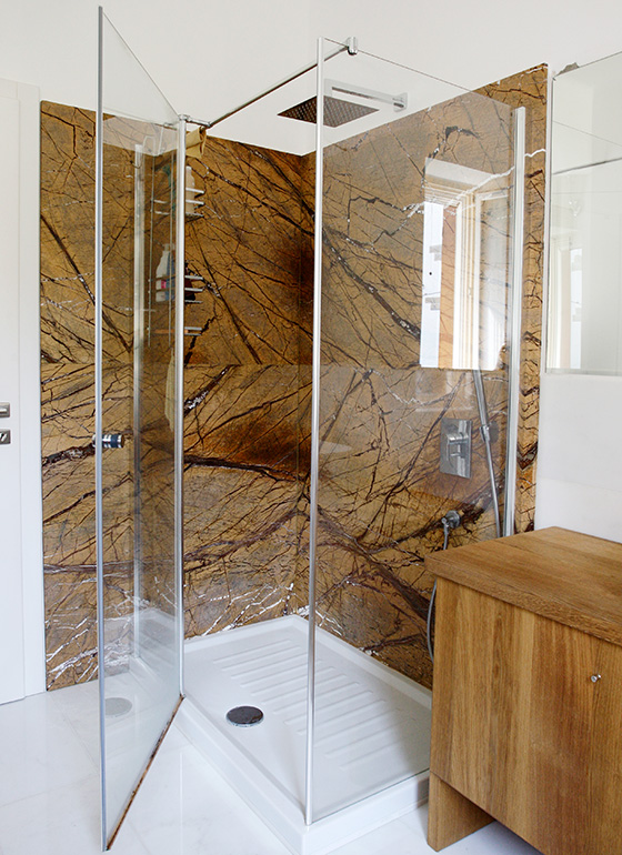 Shower box yellow/gold marble