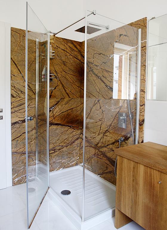 Rivestimento box doccia marmo giallo/oro