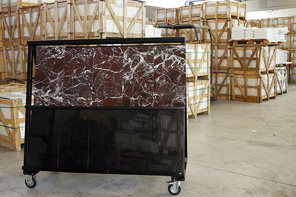 Storehouse with ROSSO LEVANTO Marble Tiles