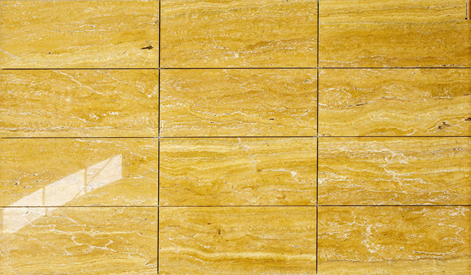 Travertin Giallo Flooring Tiles