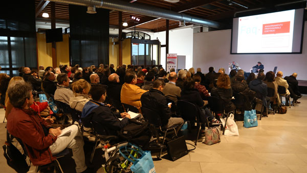 People listening during Infoprogetto Trieste